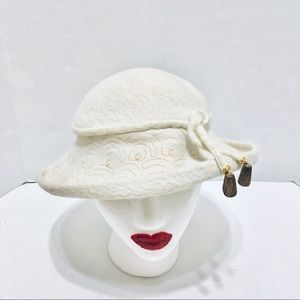 Vintage Riley Original Designs cream color hat